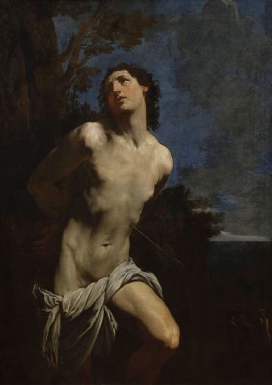 Reni, Guido:  Saint Sebastian. Fine Art Print/Poster. Sizes: A4/A3/A2/A1 (002094)